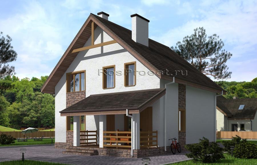 Дизайн небольших домов с мансардой